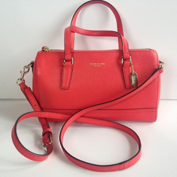 1c845b539 closeout coach saffiano 49392 mini satchel crossbody purse d5be4 acf6c